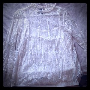Laced 2 layer top